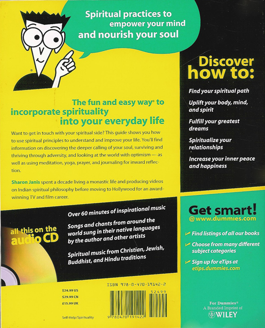 The spirituality for dummies cd of inspiring music for For dummies template book cover