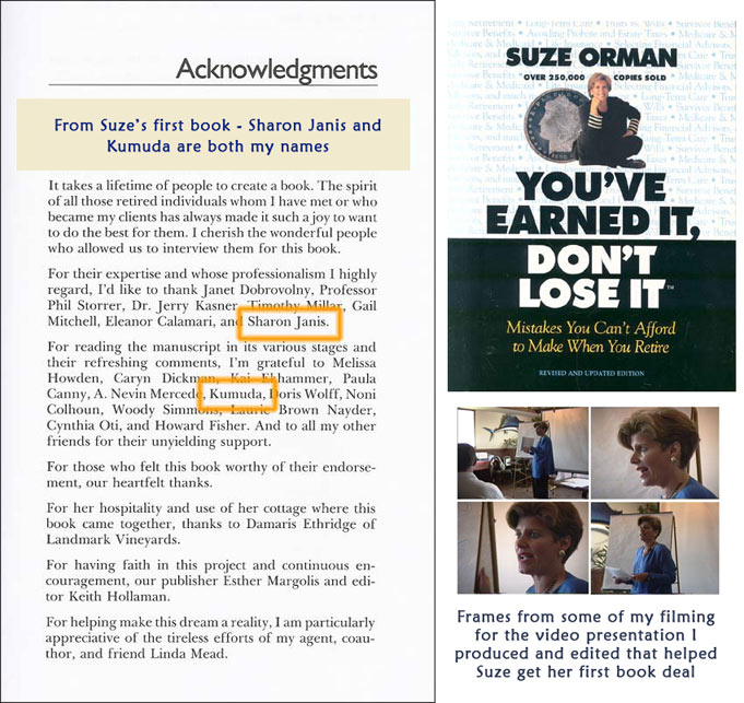 suze orman acknowledgment
